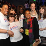 Les volontaires de la Coordination à la Convention Egalité