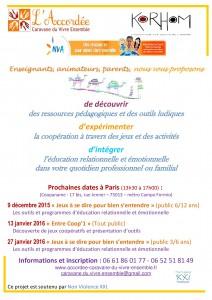 affiche formations l'Accordée décembre janvier
