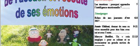 La Lettre n°38 : l'importance de l'accueil et l'écoute de ses émotions