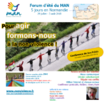 Forum d'été du MAN - Formations à la non-violence