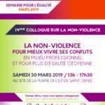 IVe Colloque sur la non-violence le 30 mars à l'IUT de Saint-Denis Paris 13